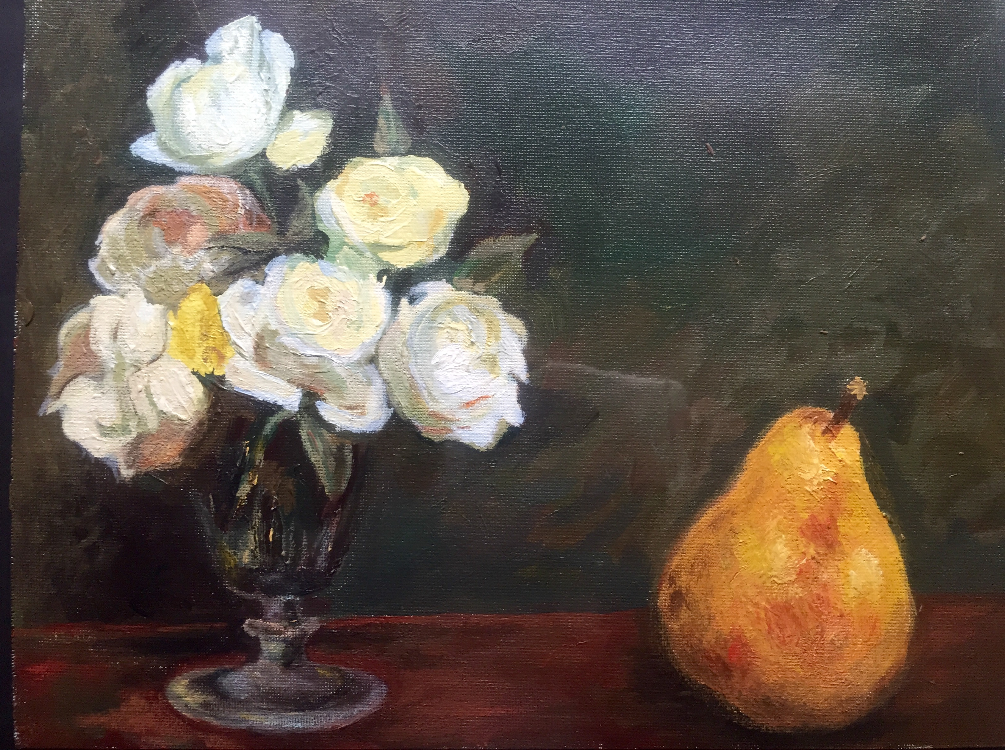 White Flowers with Pear